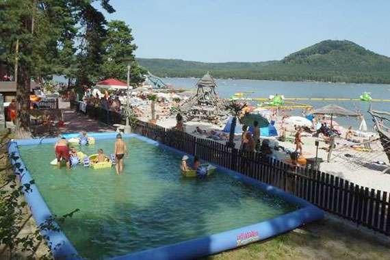 Aquapark Staré Splavy nedaleko Chatové osady Čtyřlístek u Máchova jezera